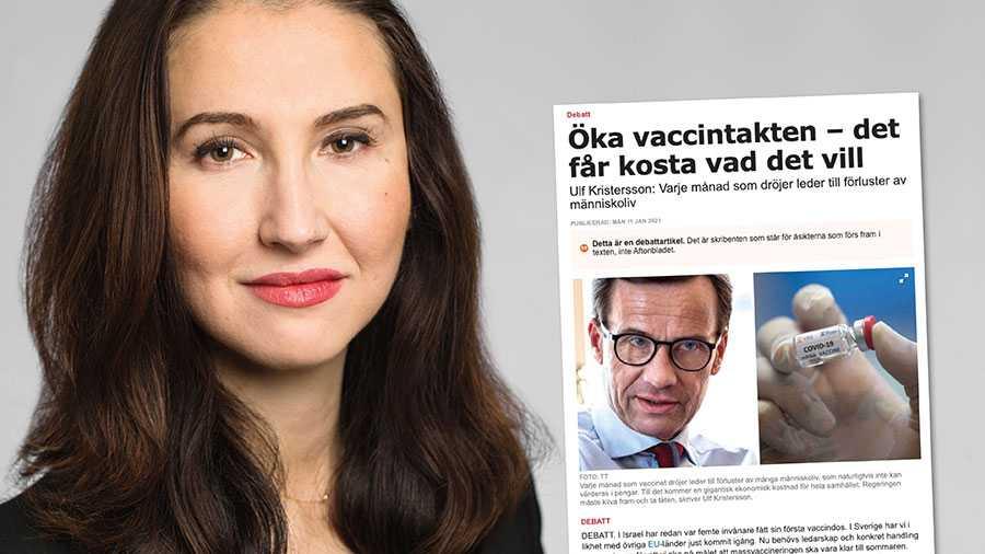 I en tid när Sverige befinner sig i kris och vi behöver samarbeta för att vaccinera så många svenskar som möjligt, så fort som möjligt, borde M:s partiledare upphöra med sitt politiska spel, skriver Aida Hadzialic.