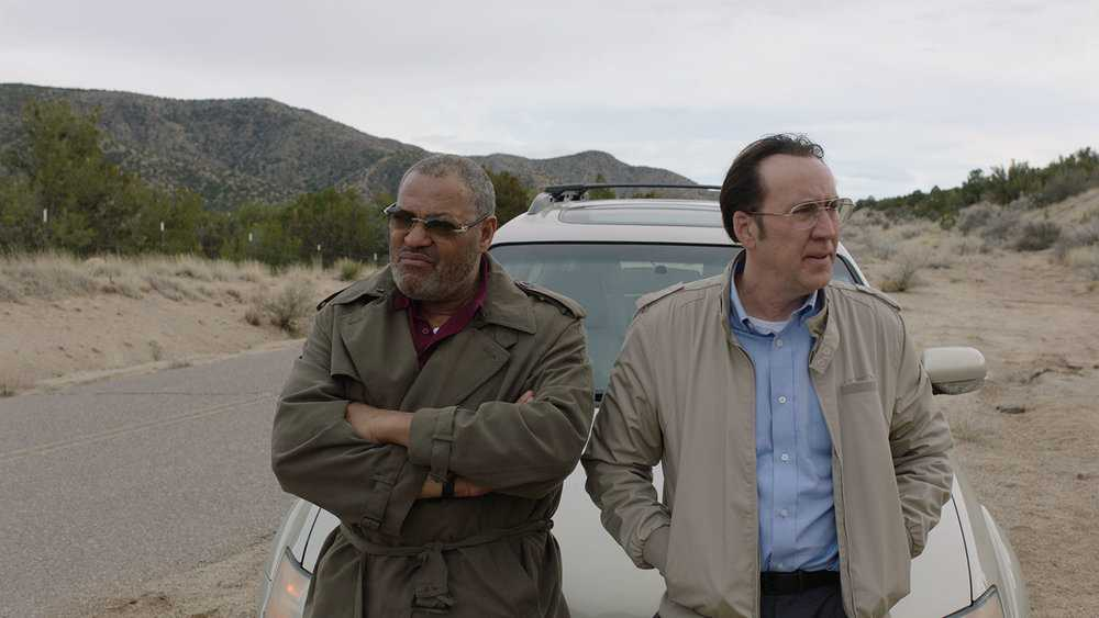 "Laurence Fishburne och Nicolas Cage i ""Running with the devil""."
