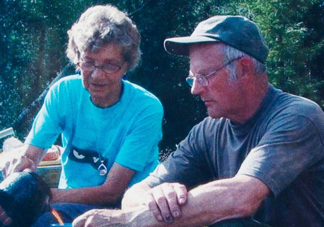 Hans Granberg och hustrun Ingrid. Okänt fotodatum.