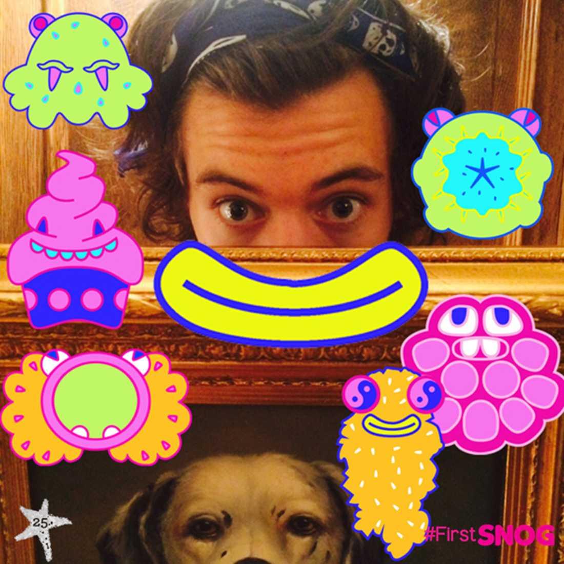 Bildkul med Harry Harry skojar gärna med sin mobiltelefon-appar