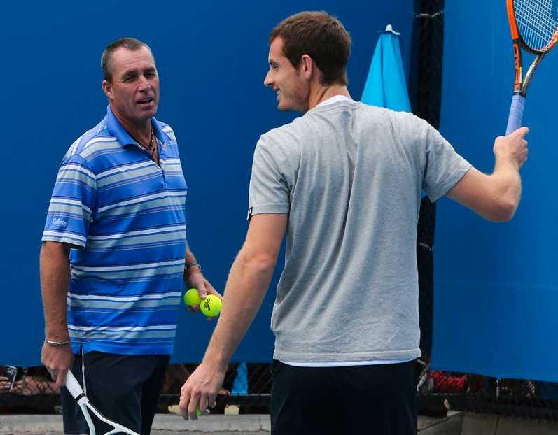 Ivan Lendl tillsammans med Andy Murray.