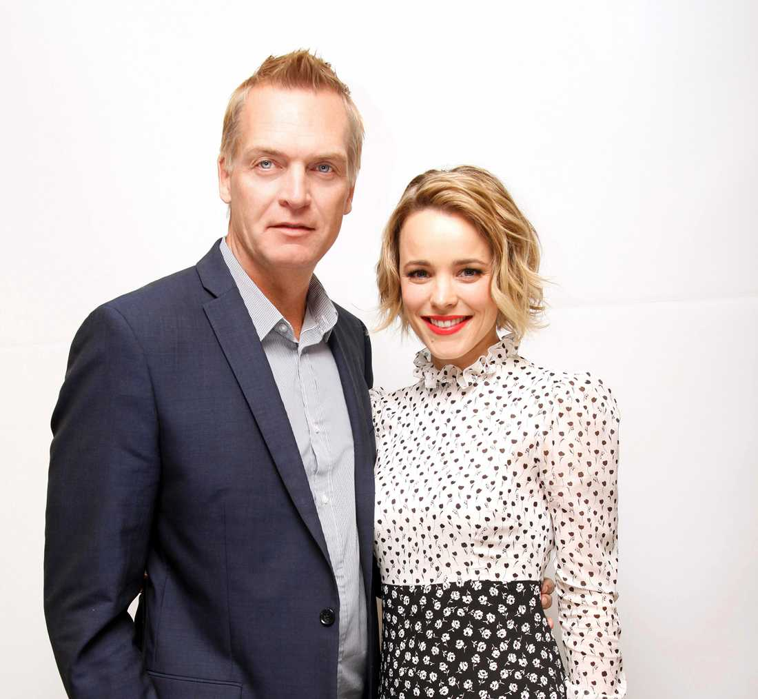 Rachel tillsammans med Magnus Sundholm.