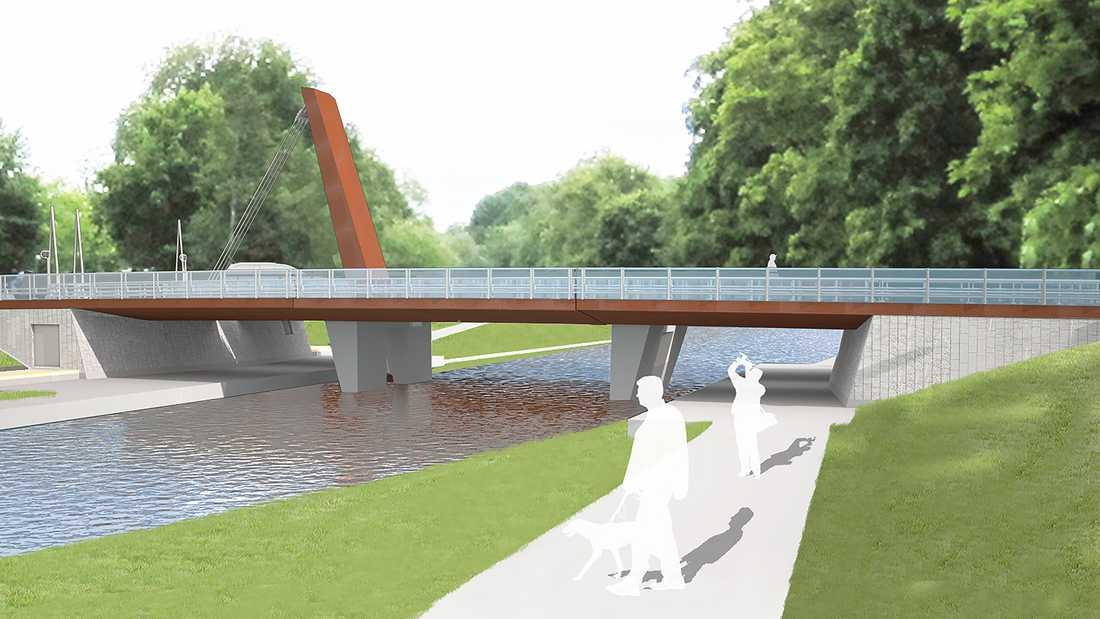 Så är det tänkt att den nya bron ska se ut.