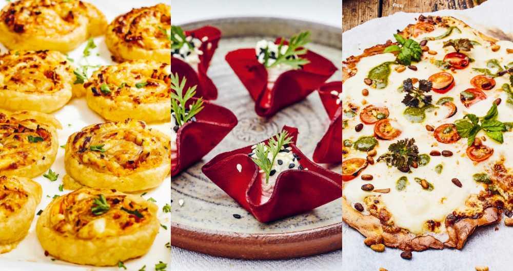 Smördegssnurror, rödbetskorgar och kikärtspizza.