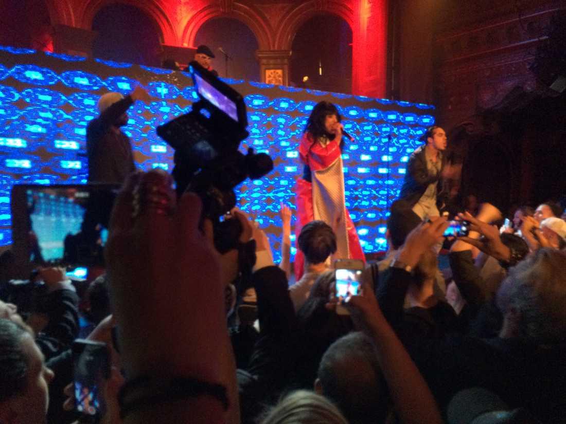 Leila K på Denniz Pop awards i går kväll.