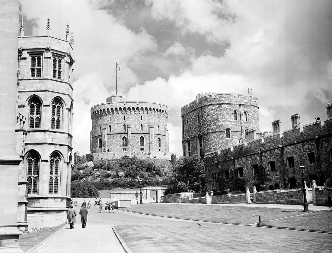 Slottet Windsor sommaren 1945.