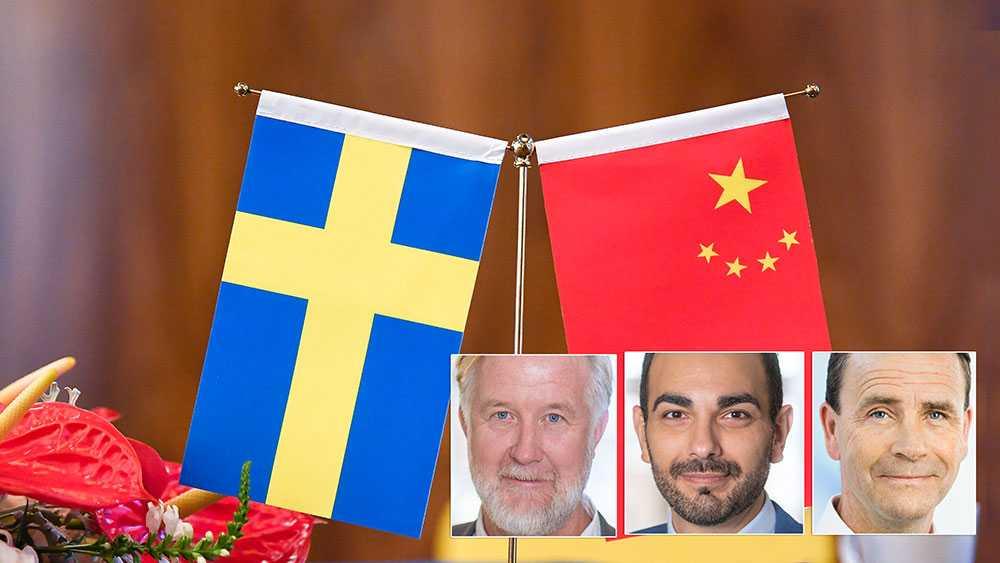 Vi måste skyndsamt säkerställa att utländska investeringar och upphandlingar i kritisk infrastruktur granskas för att säkerställa att Sverige inte hamnar i beroendeställning till diktaturer, skriver Johan Pehrsson, Arman Teimouri, och Allan Widman (L).
