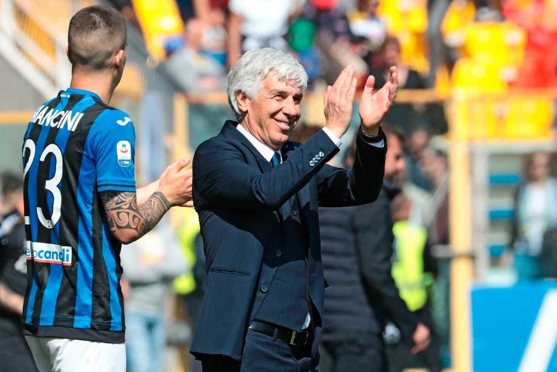 Atalantas tränare Gian Piero Gasperini.