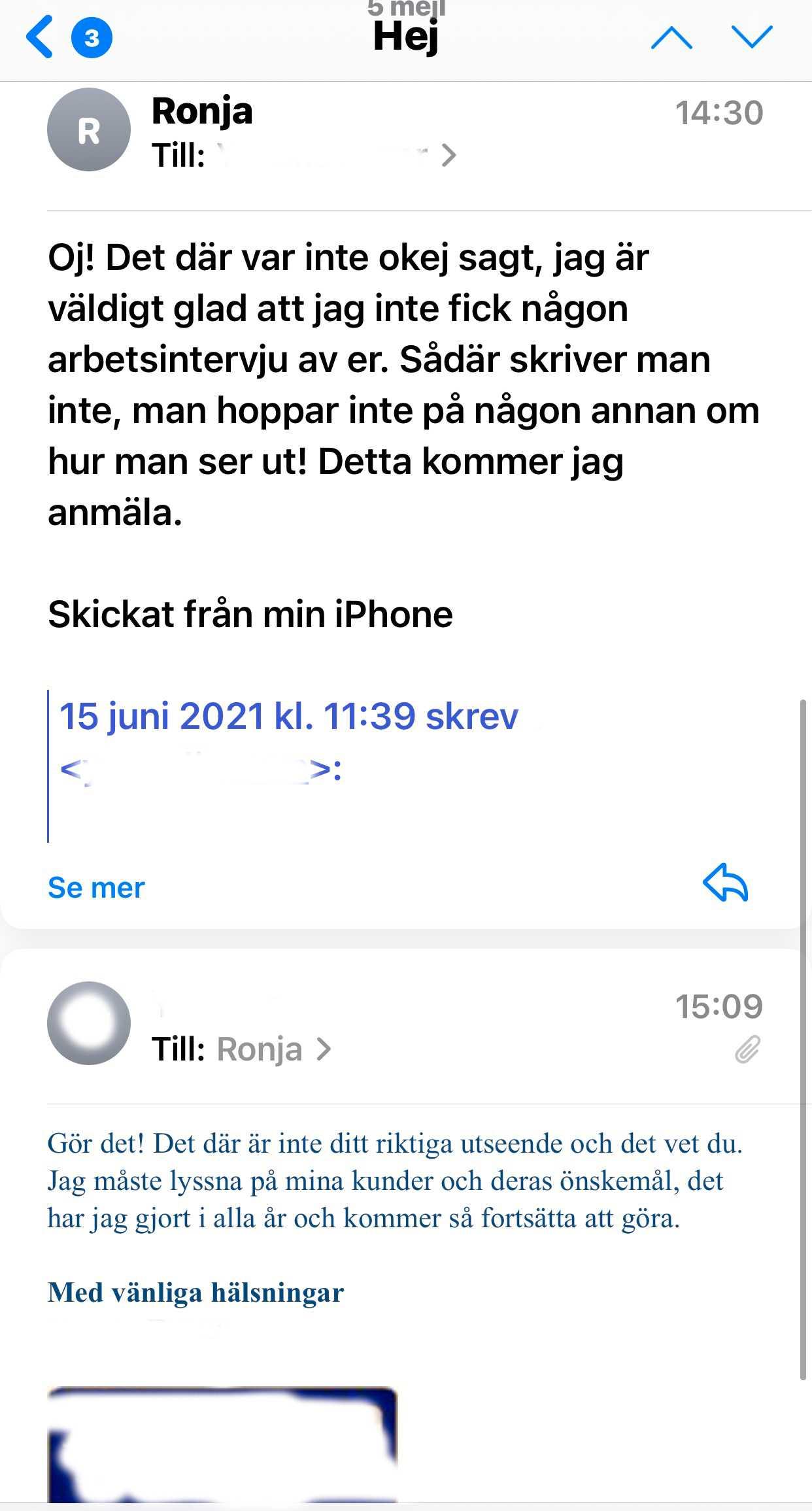 Efter några timmar formulerade Ronja Jakobsson ett svar.