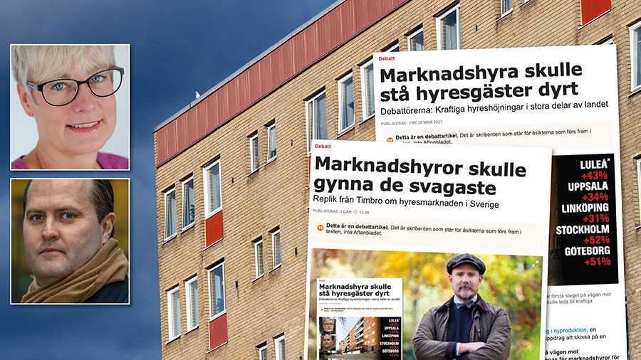 Sverige har redan provat marknadshyror. Vi känner till effekterna det ger, trångboddhet, otrygghet och dåliga boendeförhållanden. Slutreplik från Marie Linder och Erik Elmgren, Hyresgästföreningen.