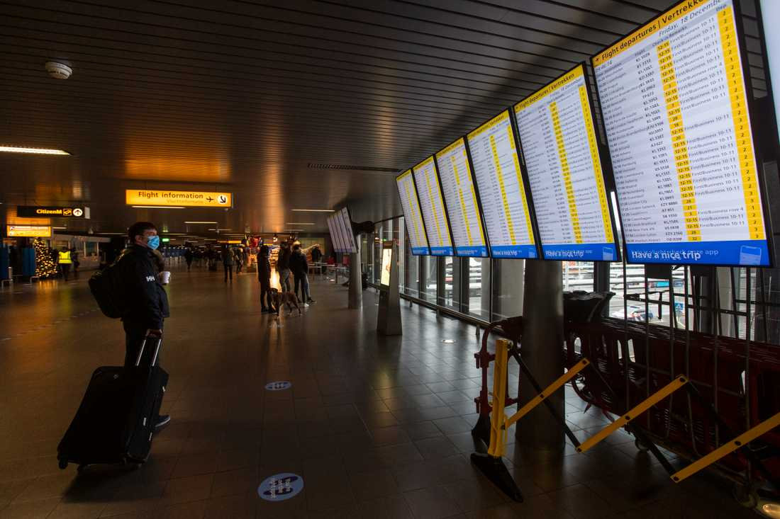 Den misstänkte knarkbossen greps på Schiphol-flygplatsen i Amsterdam. Arkivbild, tagen vid ett annat tillfälle.