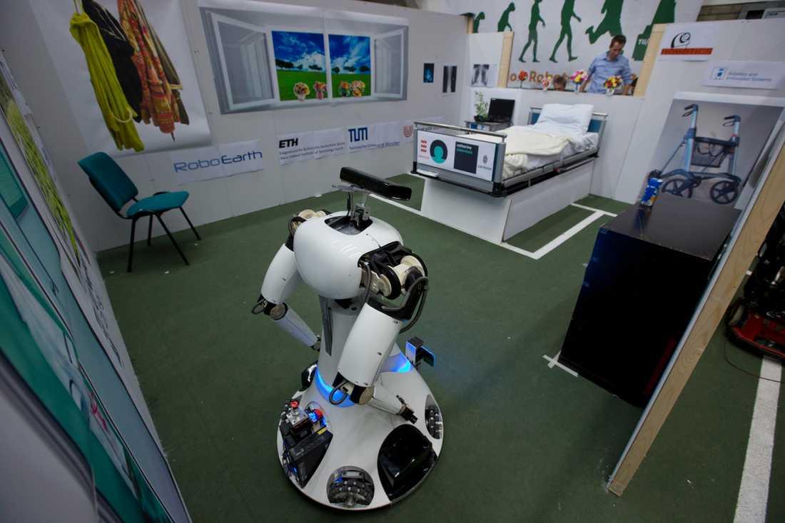 En robot som tagits fram vid det tekniska universitetet i Eindhoven i Nederländerna där nioåringen Laurent Simons studerar. Arkivbild.