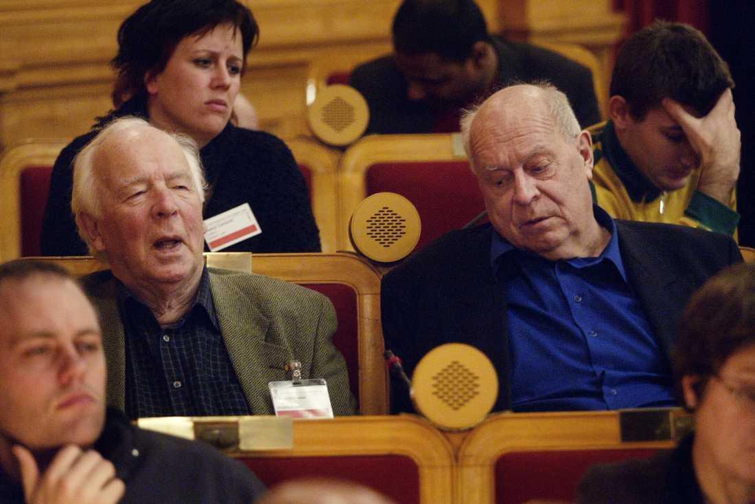 CH Hermansson och Lars Werner i Riksdagens andrakammare.