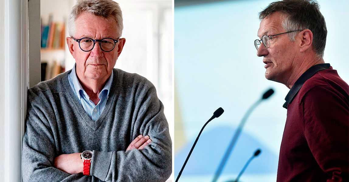 Giesecke trotsar Sveriges coronaregler