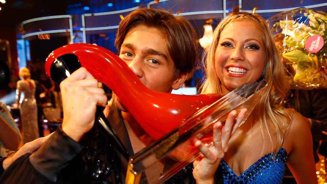 """Benjamin Ingrosso och Sigrid Bernson vann """"Let's dance"""" 2014."""