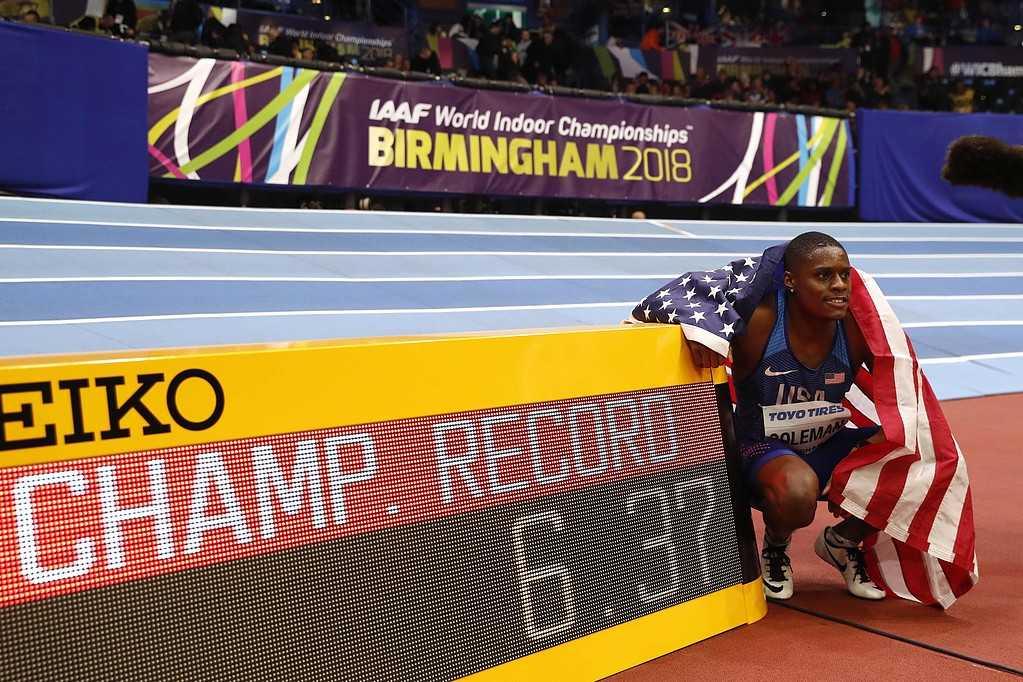Christian Coleman vann VM-finalen på 60 meter inomhus.