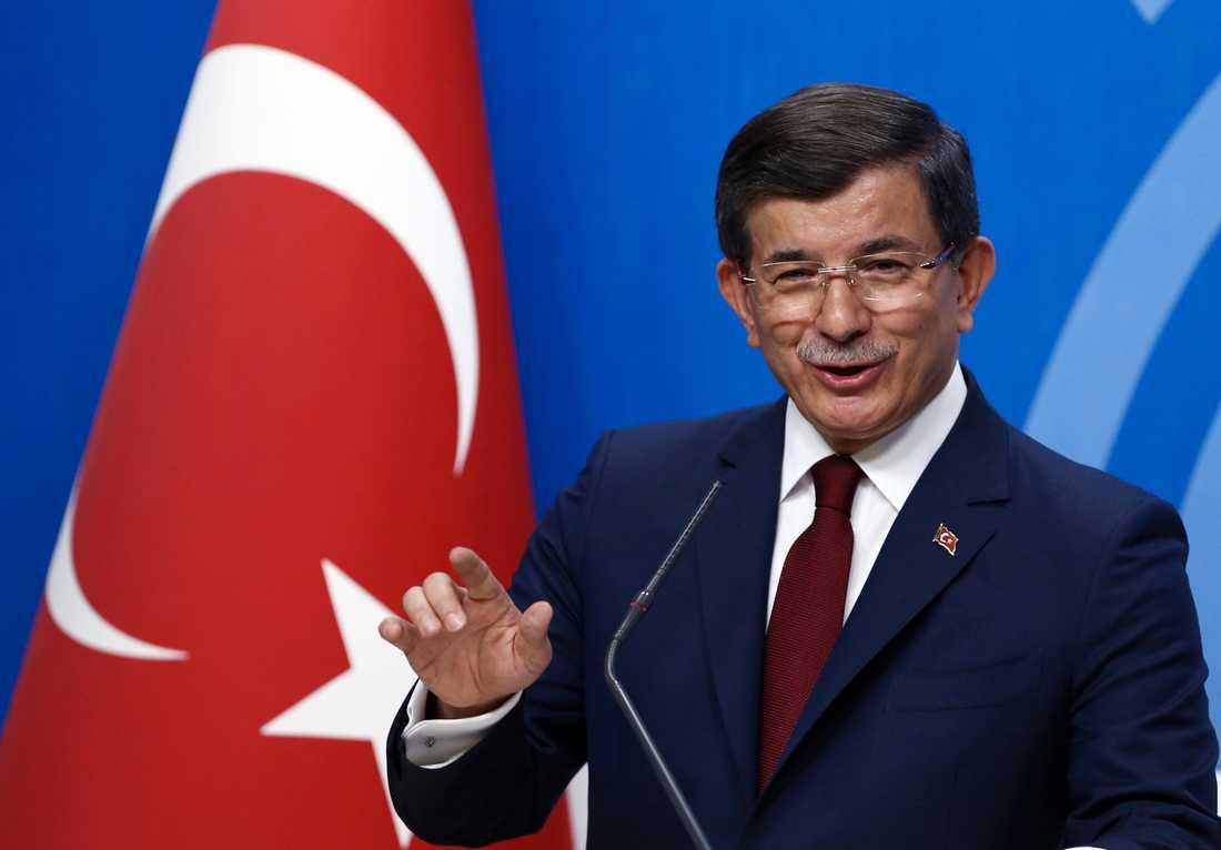 Turkiets expremiärminister Ahmet Davutoglu. Arkivbild.
