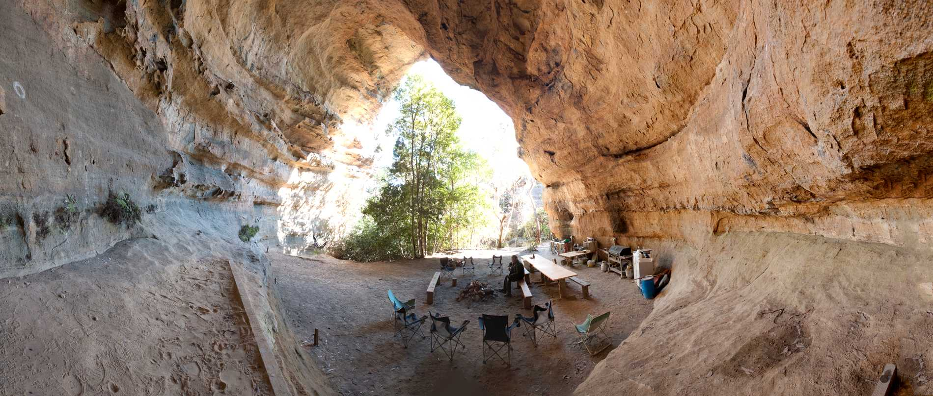 Grotta i Australien.