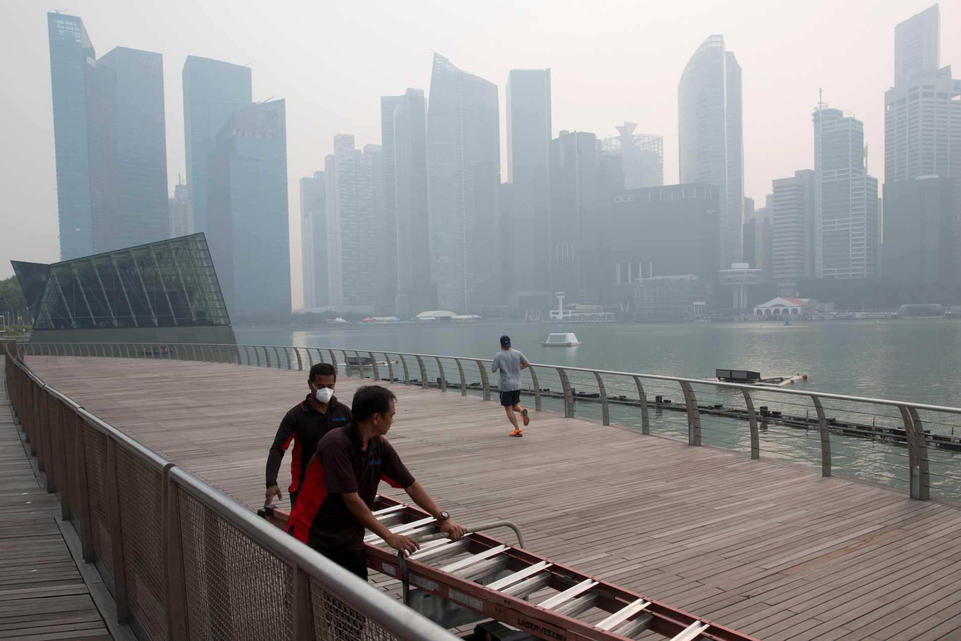Senaste gången som så mycket smog uppmättes över Singapore var 2015, då den här bilden togs.