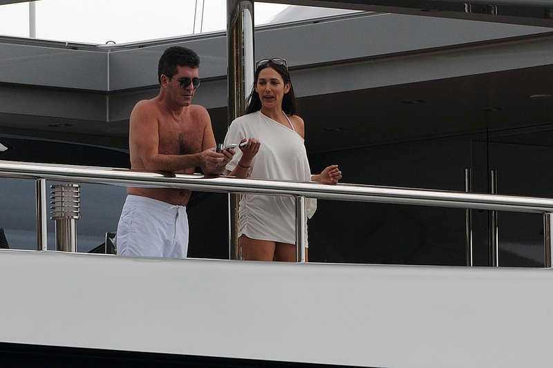 Simon Cowell och Lauren Silverman.