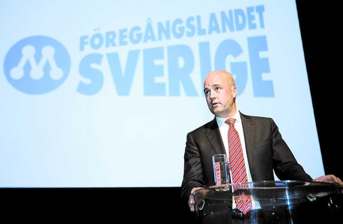 Fredrik Reinfeldt på Moderatstämman i Västerås.