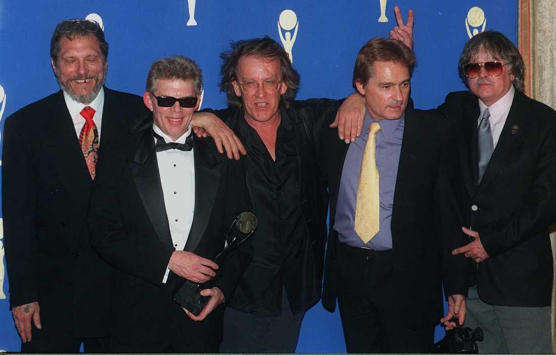 Jefferson Airplanes Jorma Kaukonen, Jack Casady, Paul Kantner, Marty Balin och Spencer Dryden 1996.