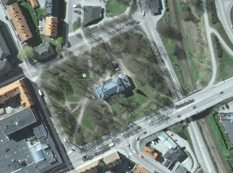 Bråket ägde rum i Teaterparken i Nyköping.
