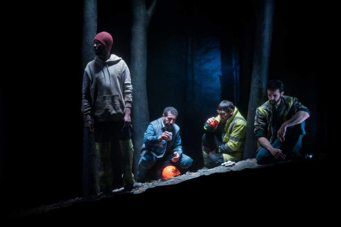 "Ibrahim Faal,  Isa Aouifia, Nikolai von Schlippenbach och Othman Othman i ""Ravinen""."