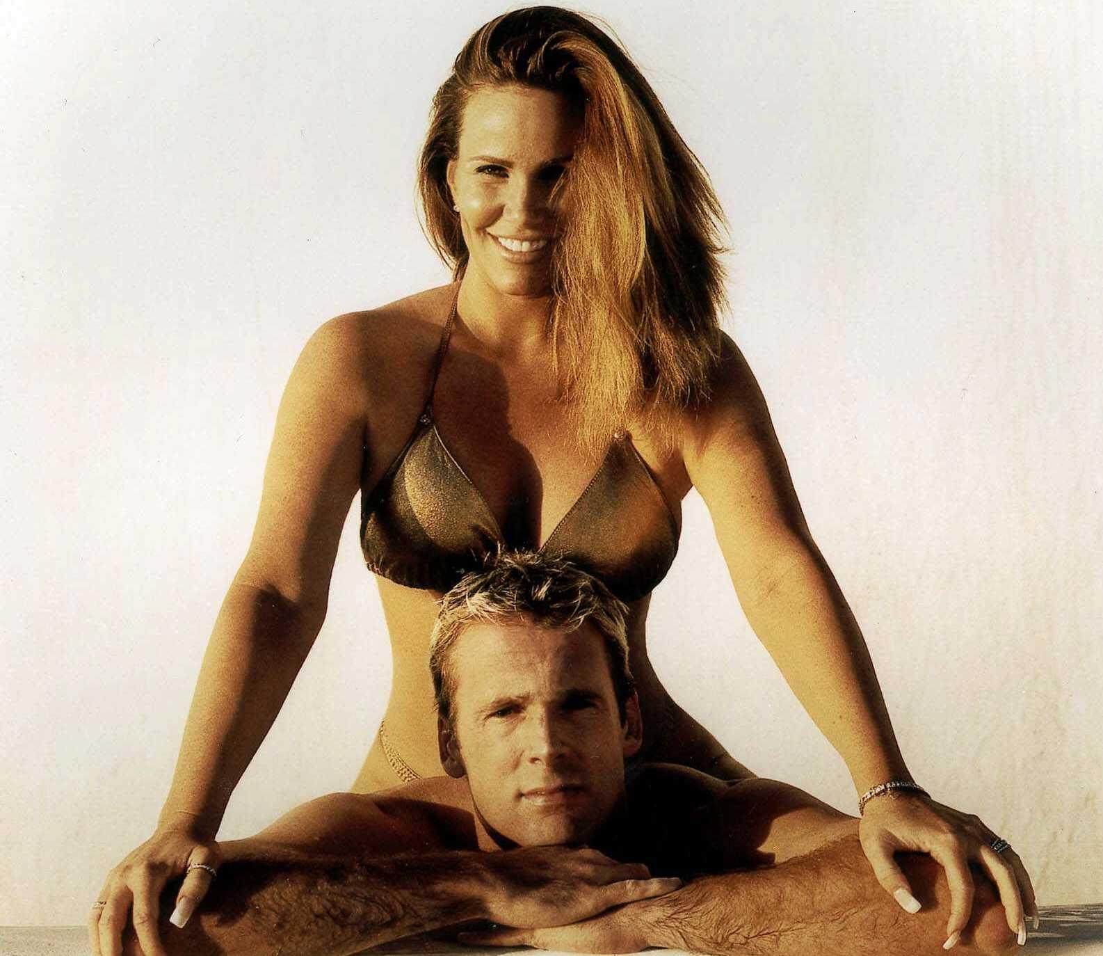 Tawny Kitaen med Chuck Finley.