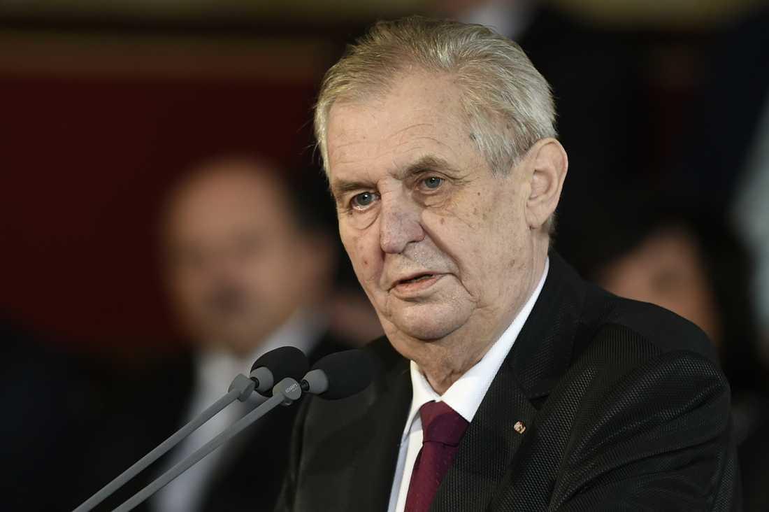 Tjeckiens president Milos Zeman. Arkivbild.