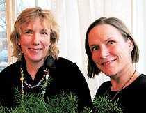 Experter Yvonne Matstoms, projektledare och Liisa Wihman, trädgårdsformgivare.