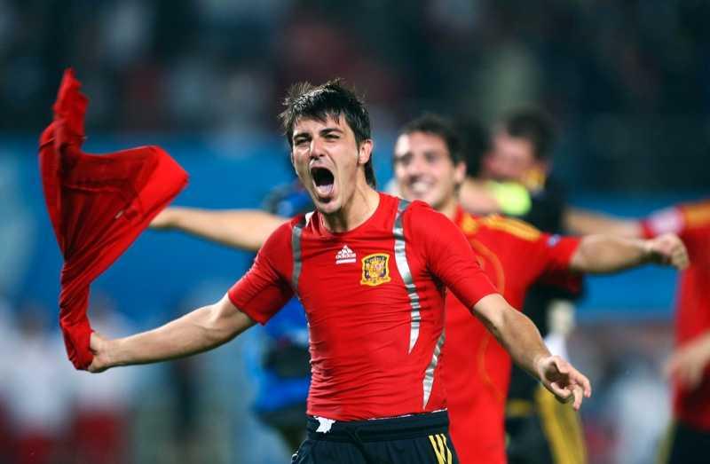Spaniens David Villa.