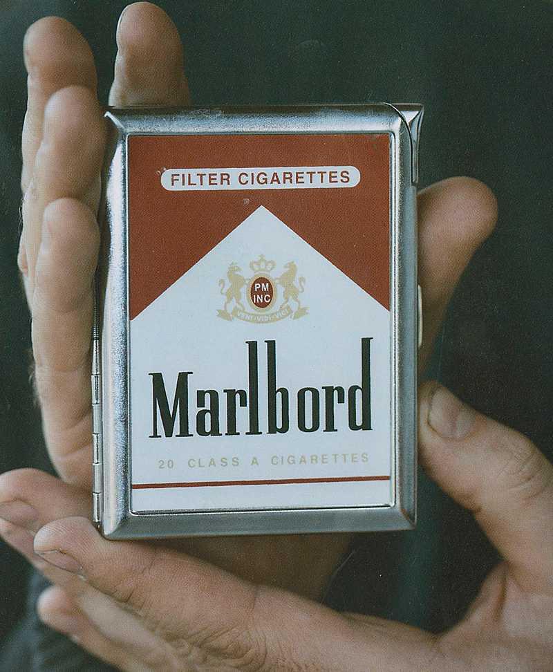 Marlbord Bara en rökridå.