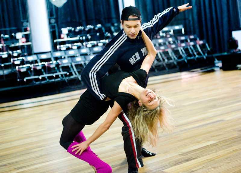 "Maria Bild och Marcus Schenkenberg i ""Let's dance""."
