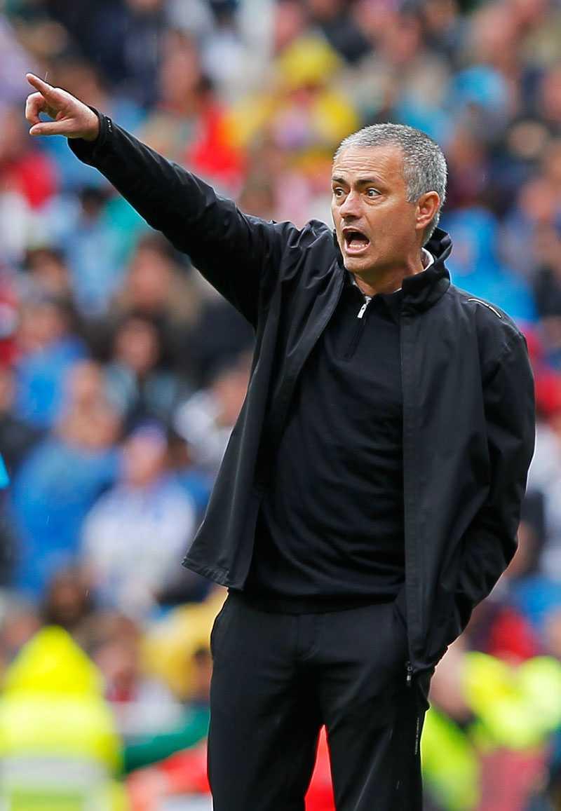 José Mourinho slipper straff.