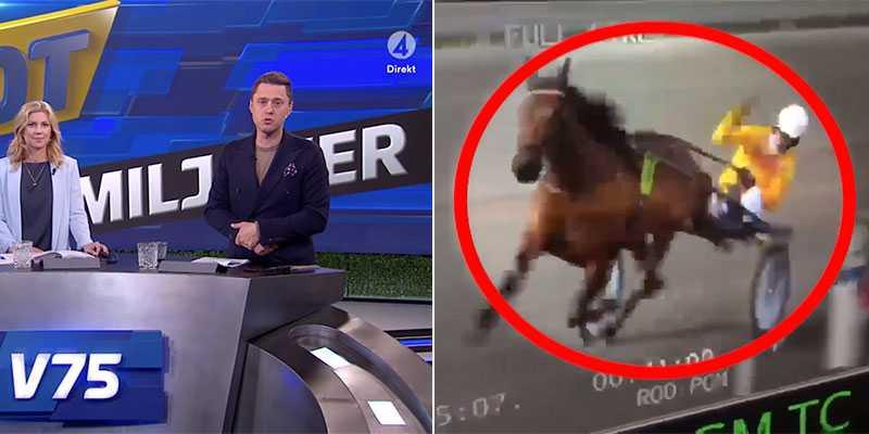 Piskskandalen visades inte i TV4:s travsändning.