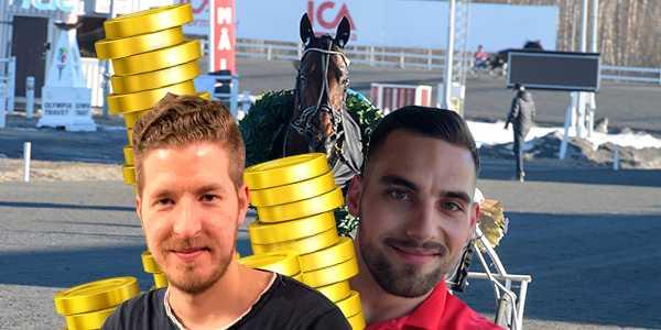 Erik Pettersson och Mario Lipovac prickade in sju rätt på V75 i lördags.