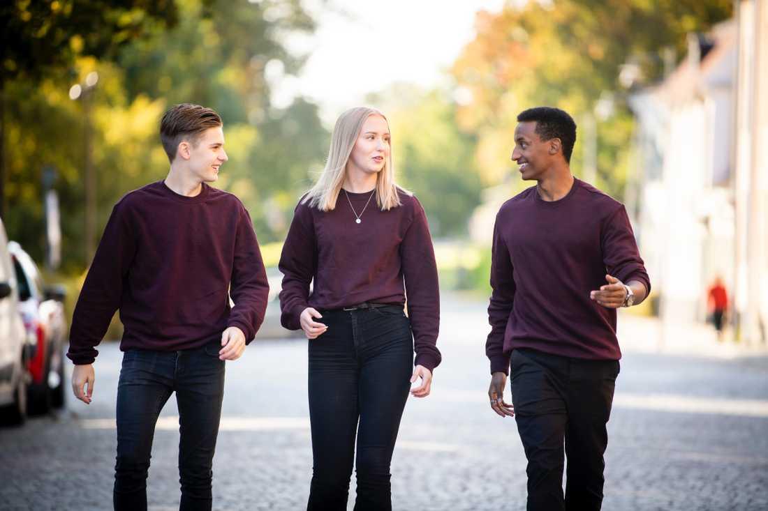 Mio Calligaris, Alva Strömberg och Evenezer Tame har startat Ungdomsföretaget 4Vhange.