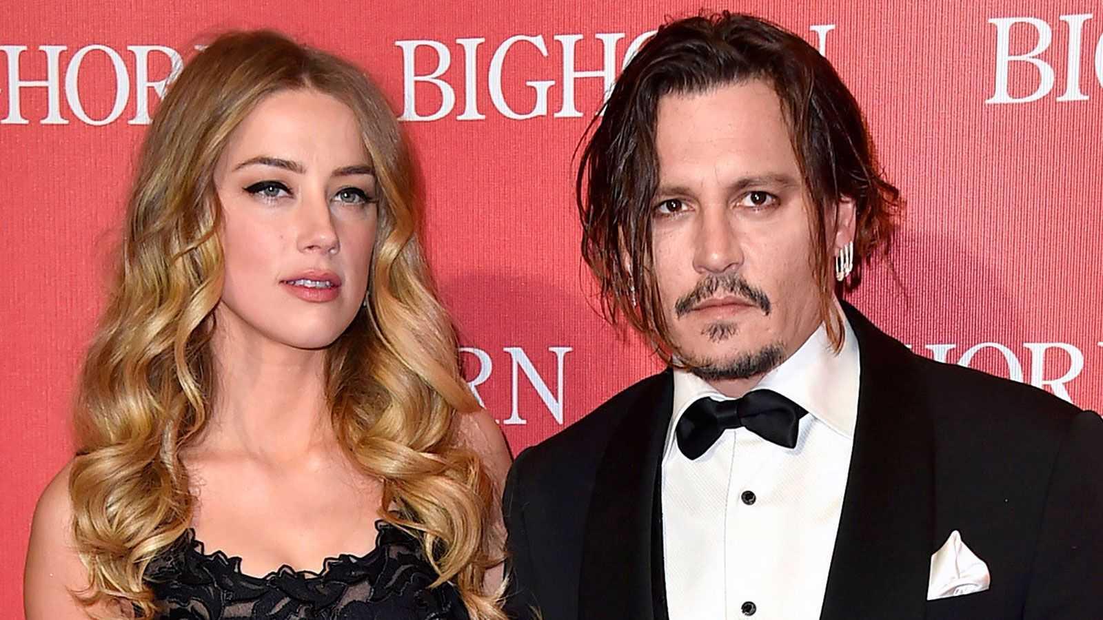 Johnny Depp tillsammans med exet Amber Heard.