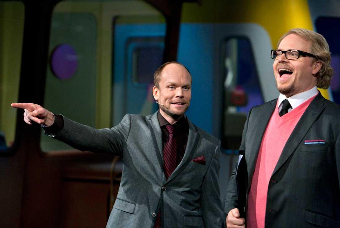 """Kristian Luuk och Fredrik Lindström i """"På spåret""""."""