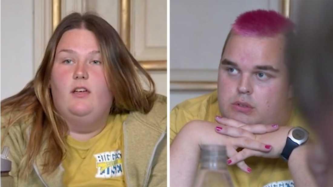 "Mona Eriksson och Andreas Andersson i ""Biggest loser""."