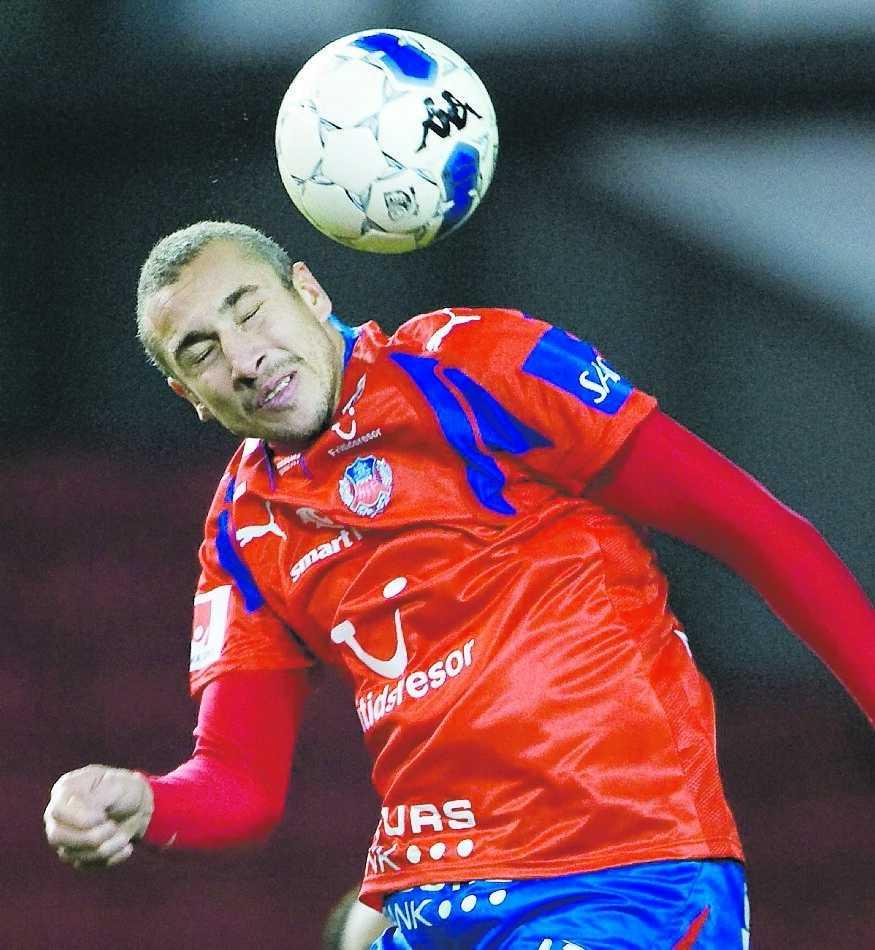 årsdebut Henrik Larsson spelade 60 minuter i Hif:s förlustmatch mot FC Köpenhamn. FOTO: BILDBYRÅN