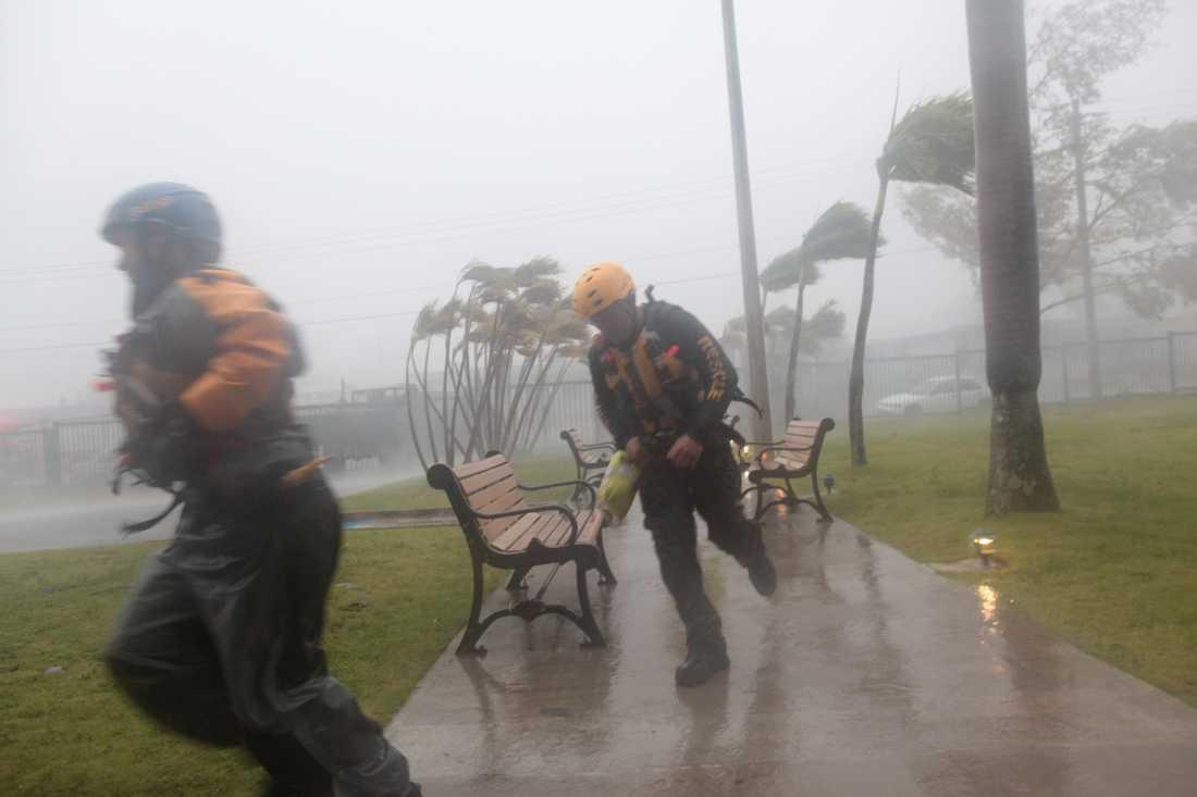 Orkanen Irma slår till mot Puerto Rico