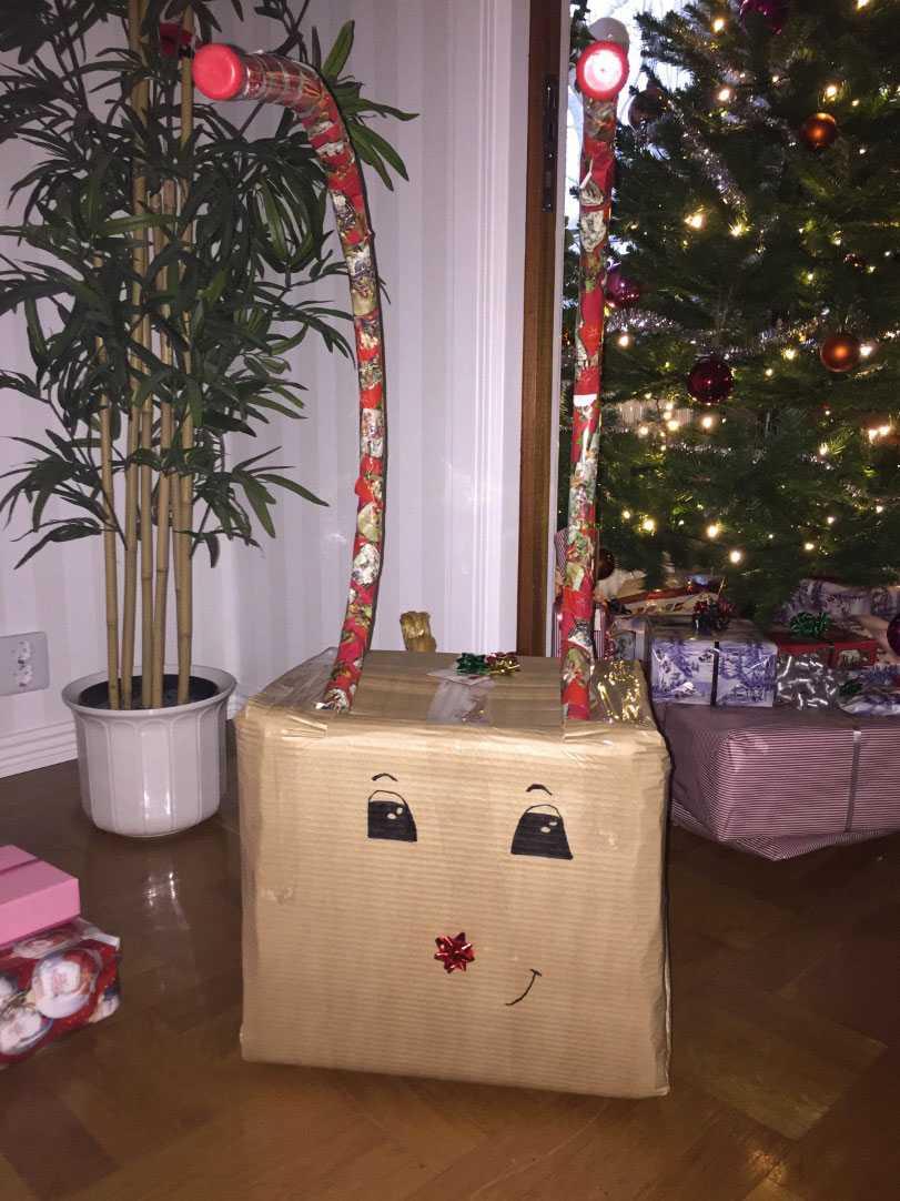 Knasigaste julklappen! Ibland får man improvisera när pappret inte räcker! skriver Julia
