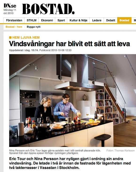 Sara Trus artikel om vindsvåningar som livsstil