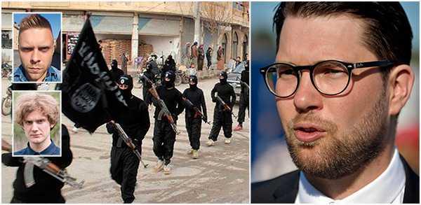 """""""SD:s vi-mot-dem tänkande skapar den sortens intolerans som blir en grogrund för samma rörelser partiet hävdar att de vill motverka. Frågan vi bör ställa oss i dag är om SD inte också blivit en katalysator för jihadismen. """" skriver Simon Andersson och Frans Sporsén."""