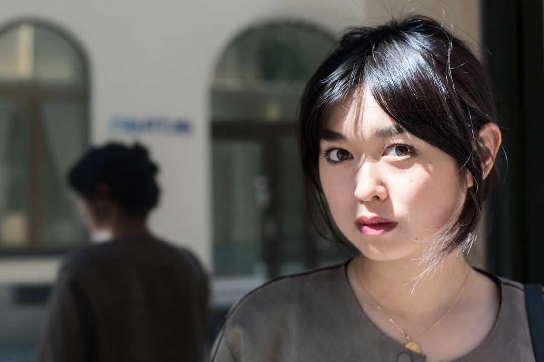 Angela Gui, dotter till den fängslade bokförläggaren Gui Minhai. Arkivbild.