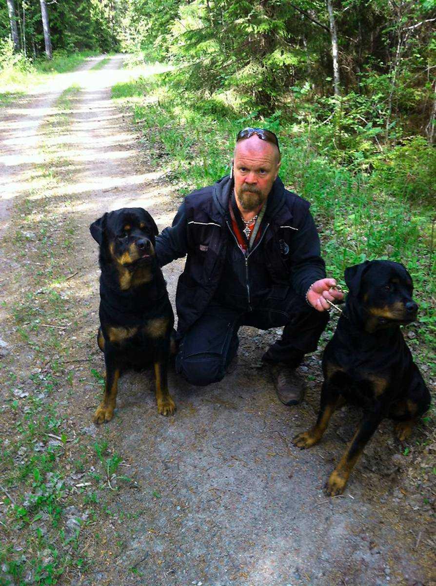 """TOG LAGEN I EGNA HÄNDER  Lars Liikamaa (ovan) fick reda på att hans rottweiler Gizmo hamnat i händerna på en ökänd djurplågerska. Då tog han lagen i egna händer. Han åkte till kvinnans gård, bröt sig in och """"kidnappade"""" sin hund."""