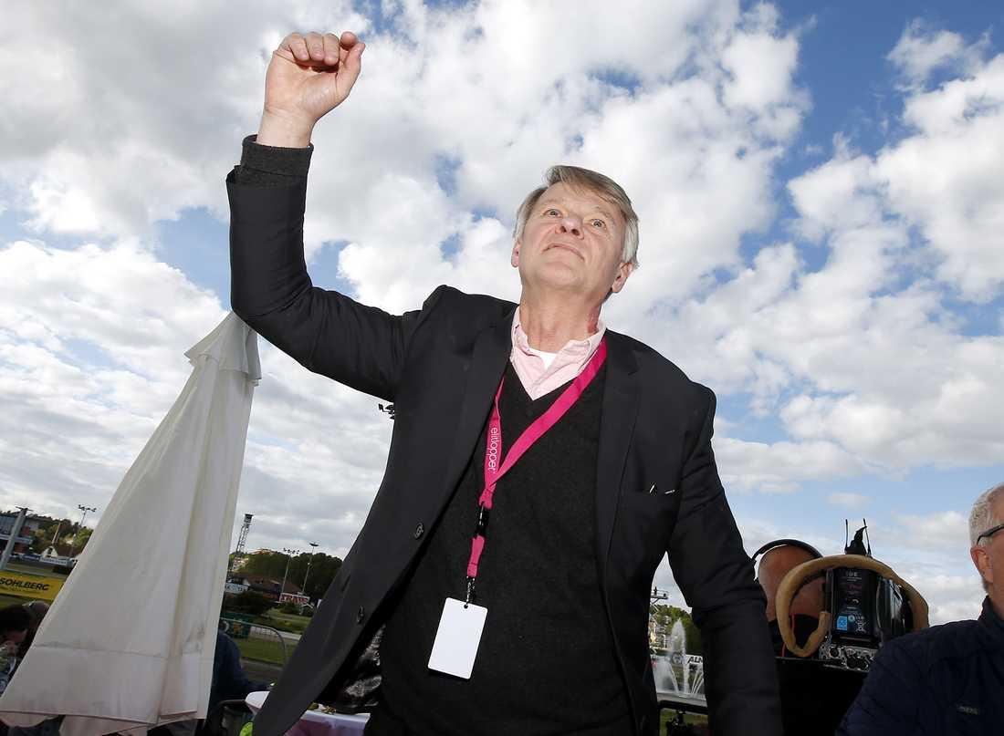Lennart Ågren efter Elitloppssegern med Magic Tonight