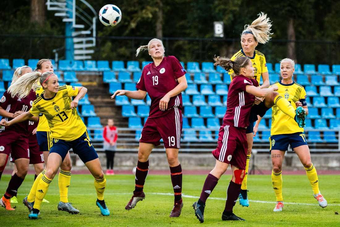 Förra mötet mot Lettland.